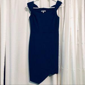 Blue off the shoulders dress